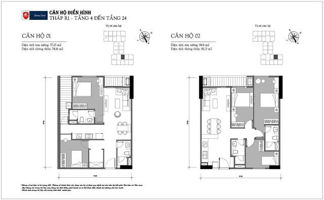 Thiết kế căn hộ 01-02 tòa R1