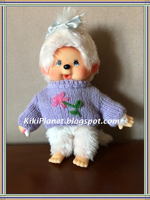 pull tricot knitting vêtement poupée doll handmade fait main, kiki monchhichi
