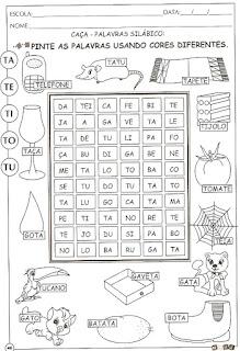 Atividades de alfabetização letra T