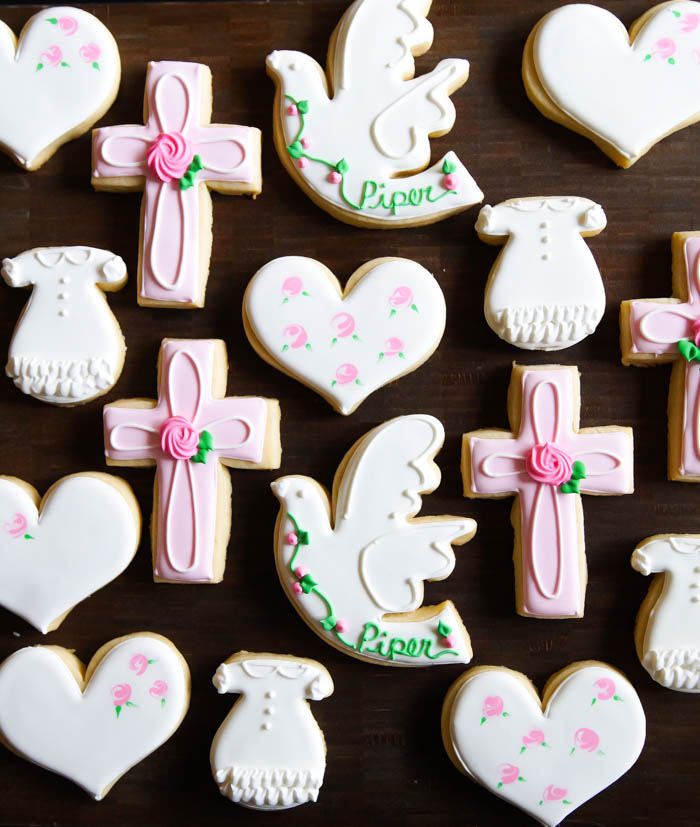 decorated baptism cookies | bakeat350.net