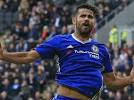 chelsea take lead against leicester city, as diego costa score opener for the blues