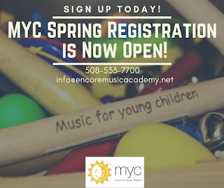 Register Now: Spring Music for Young Children session at Encore Music