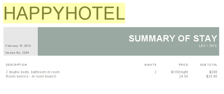 Google Drive Blog Improved discussions search scanned text in – Sample Hotel Receipt
