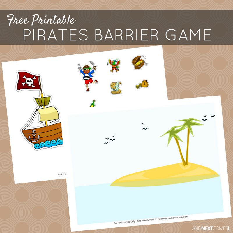 photograph about Pirates Printable Schedule known as Cost-free Printable Pirates Barrier Video game for Speech Remedy And