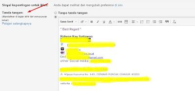 Cara buat email signature di gmail terbaru
