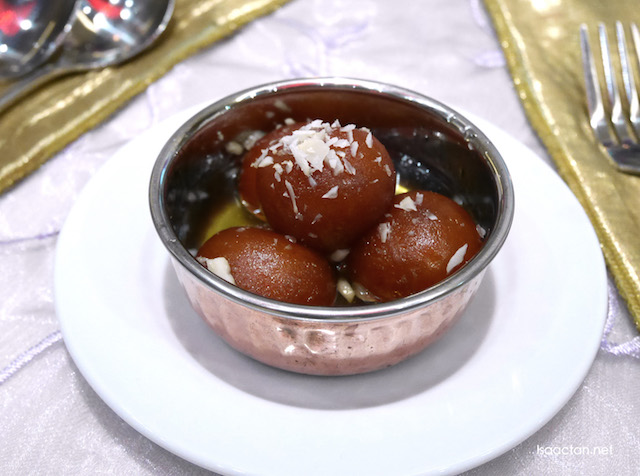 Gulab Jamun (deep fried dumplings soaked in sugar syrup)