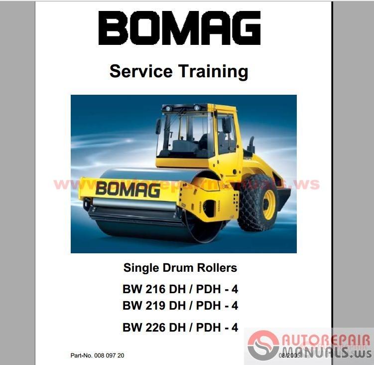 Free Auto Repair Manual   BOMAG Full Set Service Manuals
