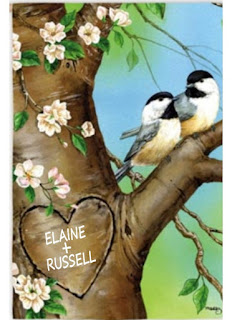 love birds personalized garden flag