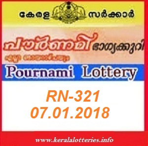 POURNAMI (RN-321) LOTTERY RESULT ON JANUARY 07, 2018
