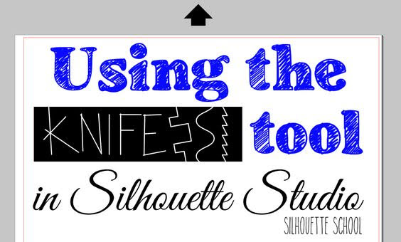 silhouette 101, Silhouette america blog, knife tool, silhouette studio, silhouette design studio