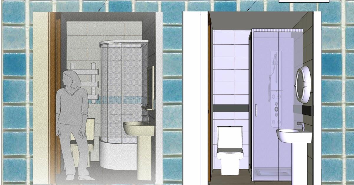 Decoramuebla layout para reforma de ba o peque o en piso for Reforma de bano pequeno
