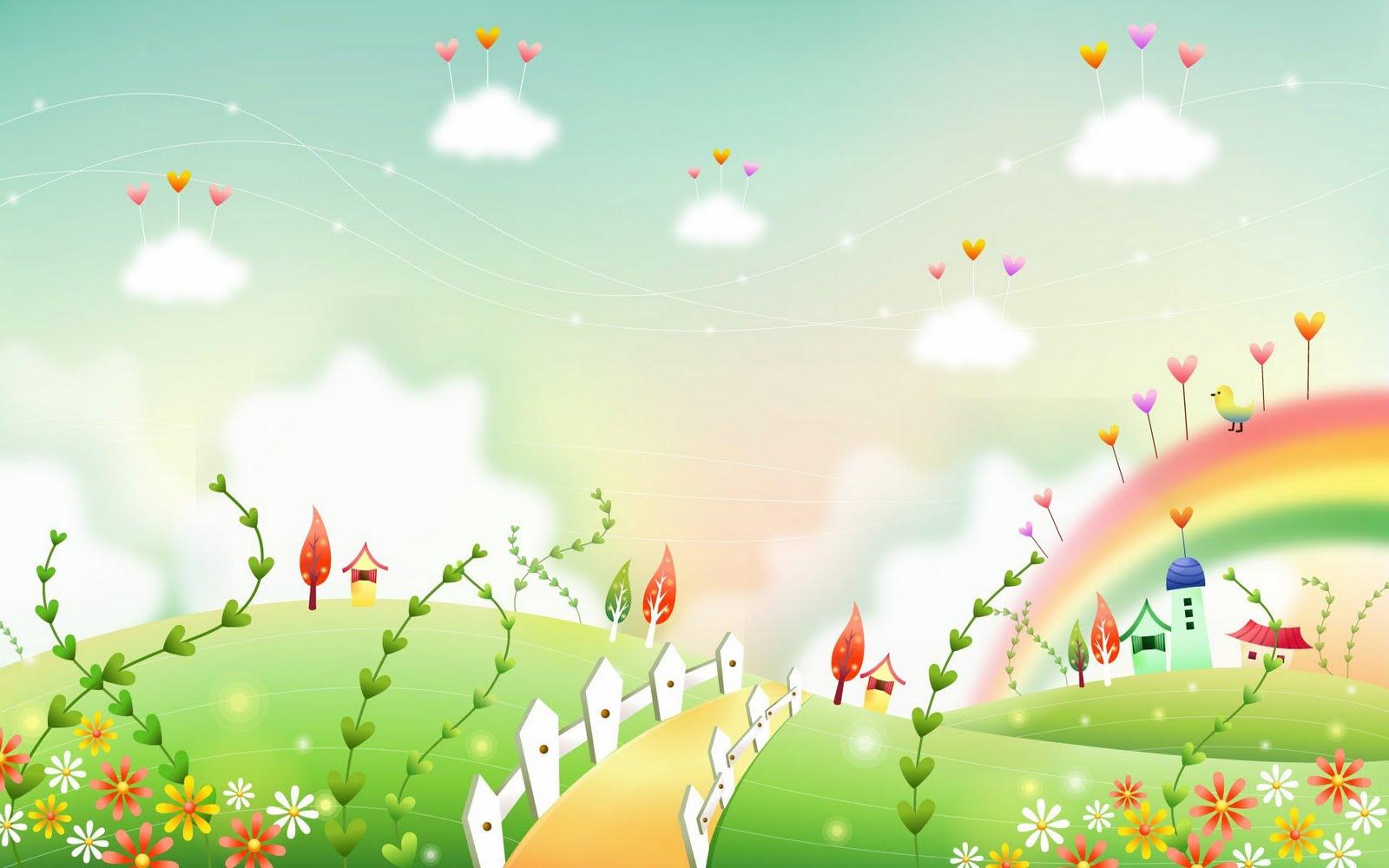 Gambar Dunia Kartun Fantasi Yang Cantik Cantik Wallpaper
