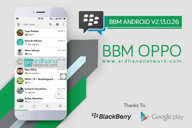 BBM Oppo V2.13.0.26 - BBM MOD Android V2.13.0.26