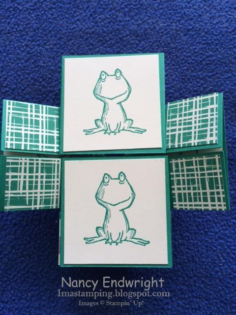 """imastamping in indiana love you lots  """"frogs"""" never"""