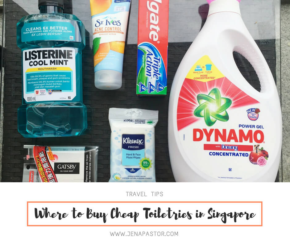 Where to Buy Cheap Toiletries in Singapore - Jena Pastor | Travel