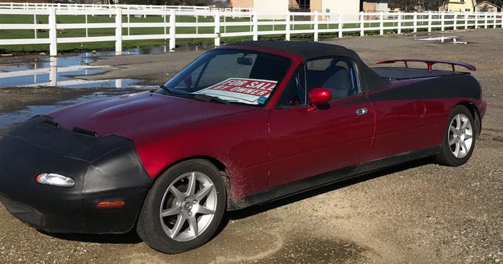 There S A Stretched Mazda Mx 5 Pickup Truck Conversion For