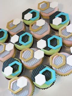 hexagon cupcakes