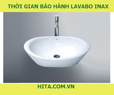 Thời gian bảo hành lavabo Inax là bao nhiêu ?