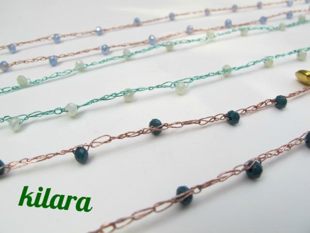 a basso prezzo 3e35e e0850 kilara creation: Collane di filo metallizzato all'uncinetto