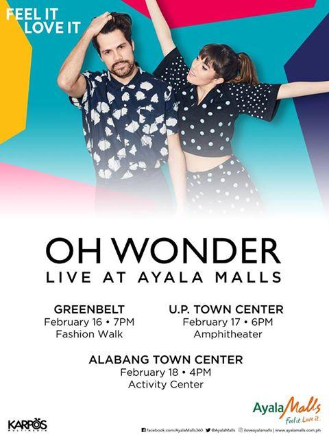 Oh Wonder Live at Ayala Malls poster