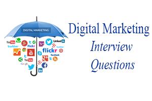 Digital Marketing Interview Questions  Marketing Interview Questions