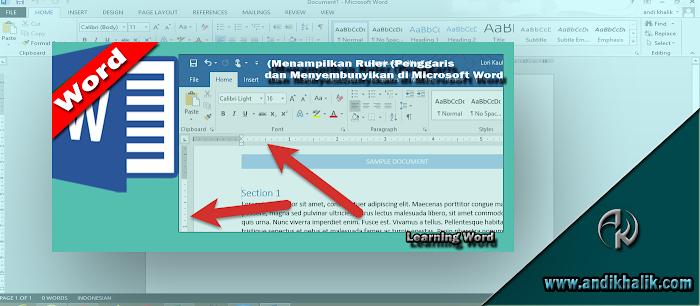 Cara Menampilkan Ruler (Penggaris) dan Menyembunyikan di Microsoft Word