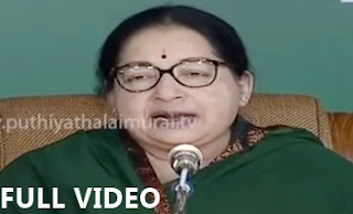 Jayalalithaa commencing the party's election campaign at Island ground, chennai