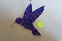 Rückseite: Kunstvolles Silber Halskette mit Kolibri Anhänger