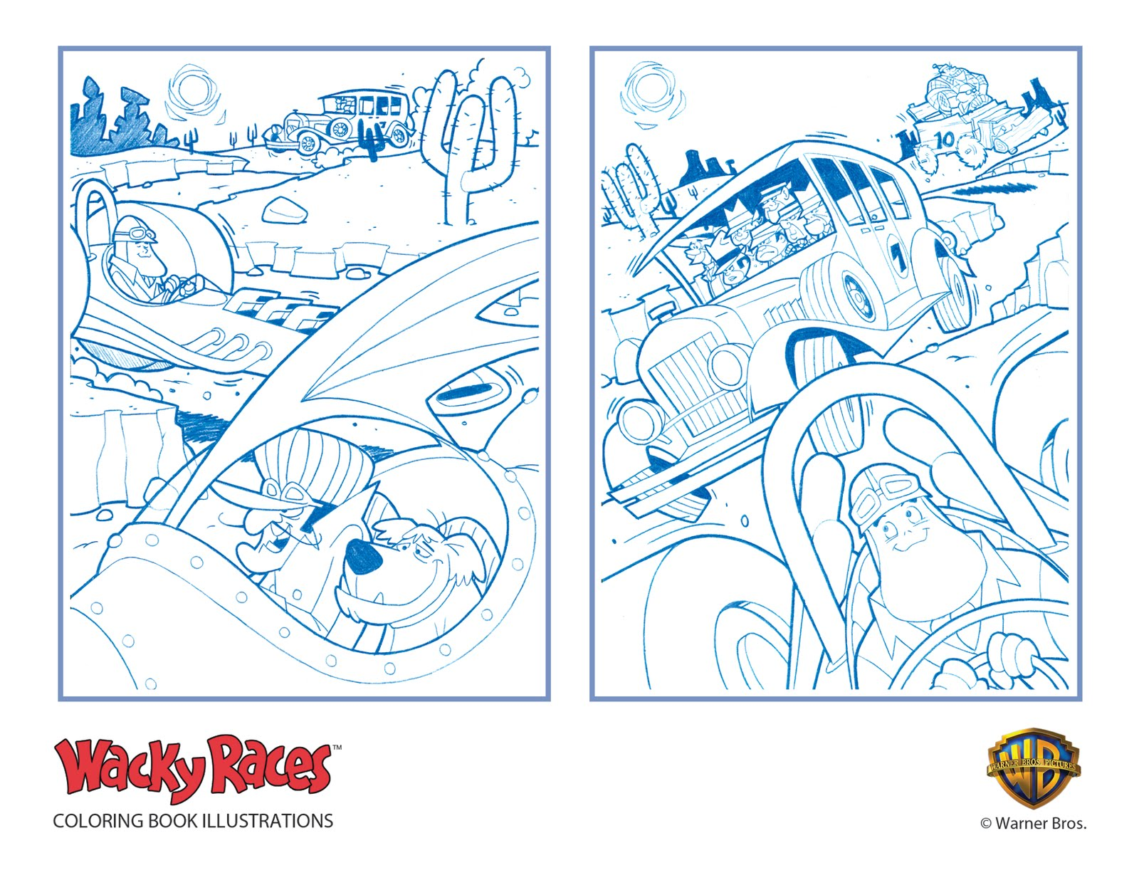 wacky races coloring pages - photo #25