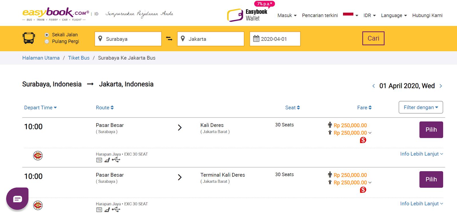 EasyBook Tiket Bus Online