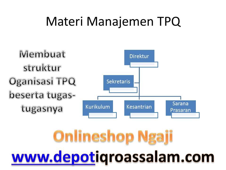 Depot Iqro As Salam Materi Manajemen Tpq Struktur Organisasi Tpq