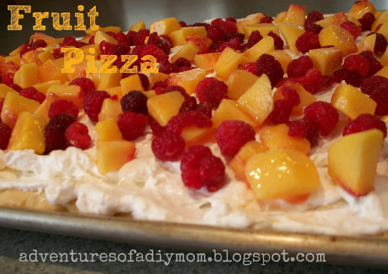 Peach and Raspberry Fruit Pizza