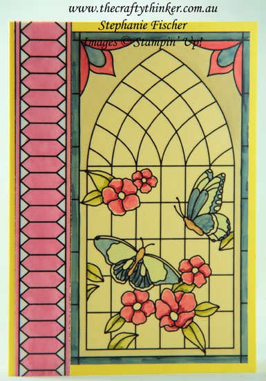 #thecraftythinker  #cardmaking  #sneakpeek2018catalogue  #2018incolours  #paintedglass , Sneak Peek 2018-2019 Catalogue, Painted Glass, 2018-2020 In-Colours, Stampin' Up! Australia Demonstrator, Stephanie Fischer, Sydney NSW