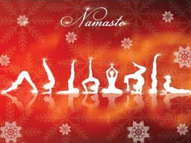 Merry Christmas Yoga Images