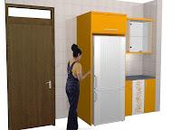 Kitchen Set Warna Oranye - Kitchen Set Desain Terbaru Tidak Monoton