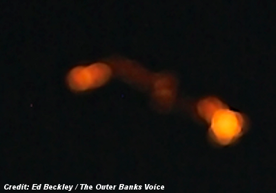 Bright Orbs Seen Rising Above The Ocean