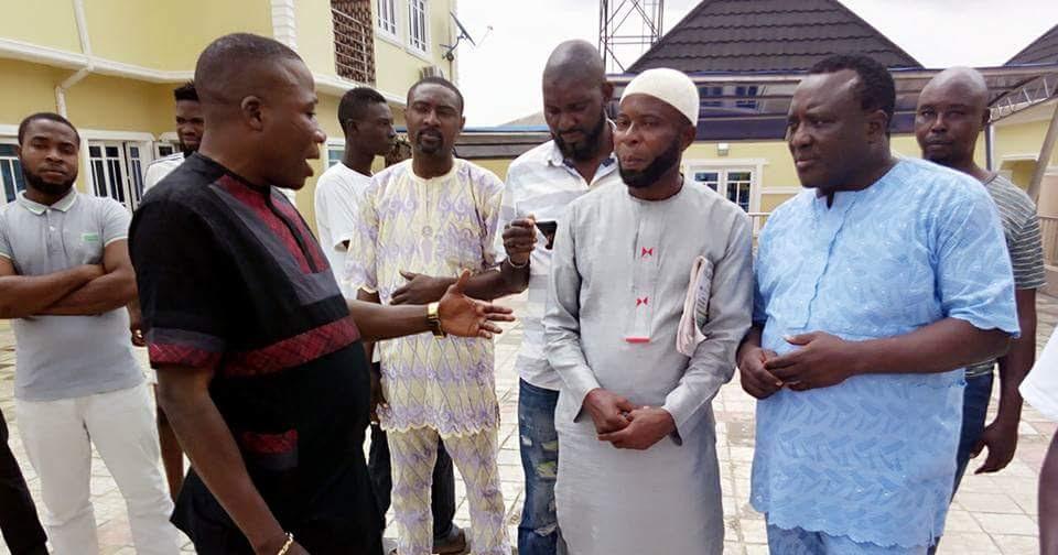 AMAZING STORIES AROUND THE WORLD: Socialite Sunday Igboho Takes Saidi Osupa  To His Multi-Million Naira New House (PHOTOS)