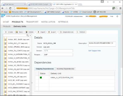 SAP HANA Rules Framework End-to-End Tutorial
