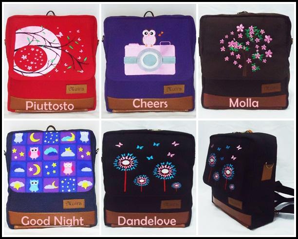 muira terbaru, tas ransel lucu, tas ransel dan selempang, grosir tas wanita, tas laptop lucu