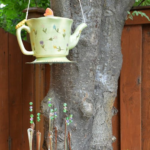Adorable Recycled Teapot Wind Chimes