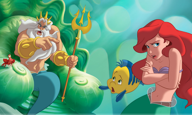 little mermaid and king triton