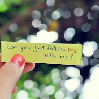 beging for falling in love with me