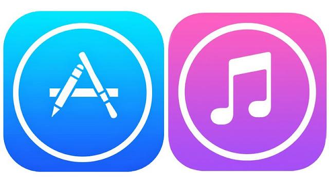 Logo iTunes dan App Store