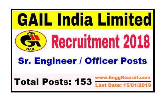GAIL India Limited Recruitment 2018