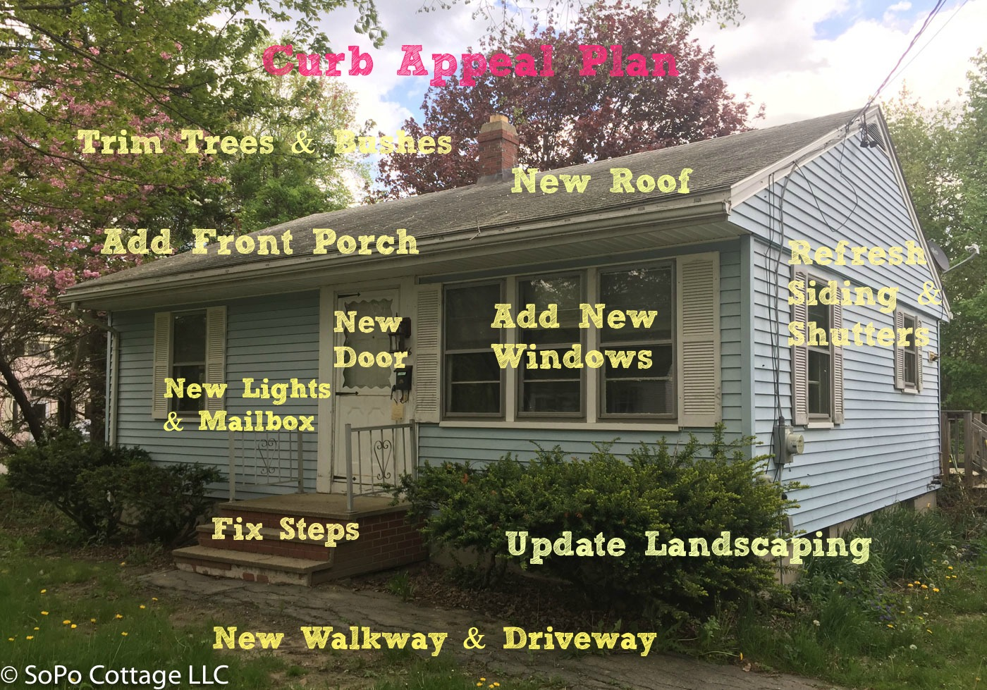 Boost Your Curb Appeal With A Bungalow Look: SoPo Cottage: Improving Curb Appeal For A 1960's Rancher