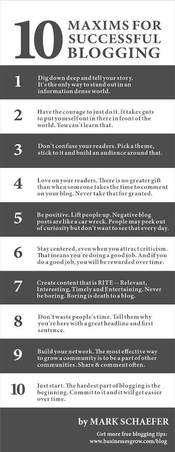 Consejos para iniciar un blog