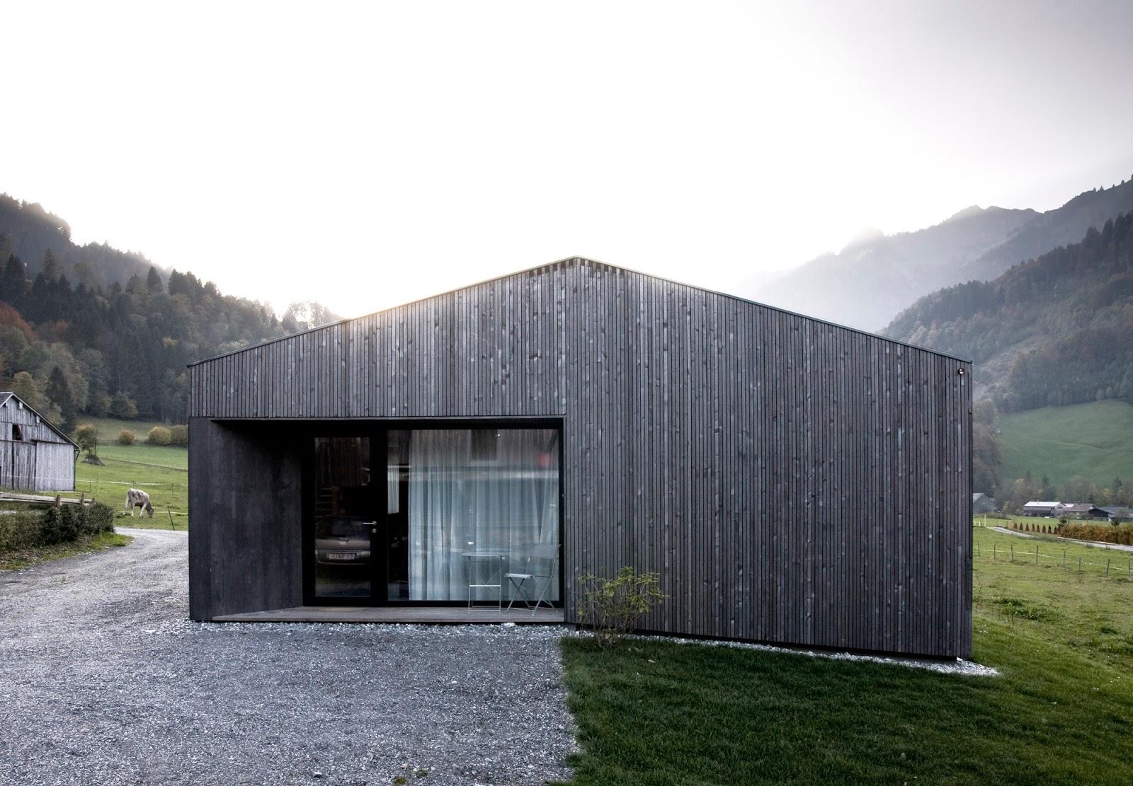 house made from prefabricated timber elements austria modern prefab modular homes prefabium. Black Bedroom Furniture Sets. Home Design Ideas