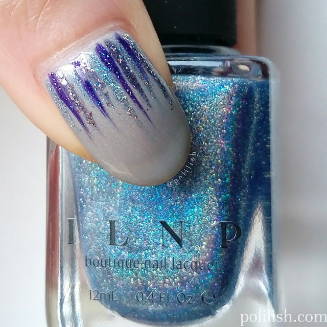 Holographic waterfall nail design by polilish