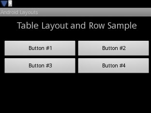 Android TableLayout Graphical View