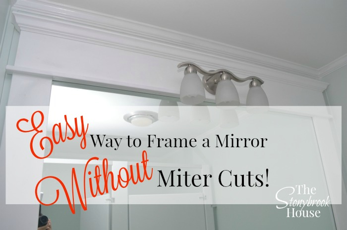 The Easy Way To Frame A Bathroom Mirror with NO Miter Cuts